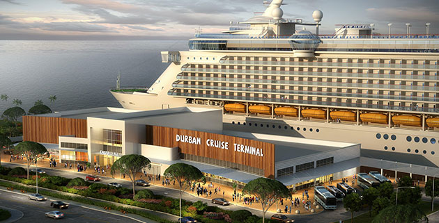 Artists impression of Durban Cruise Terminal