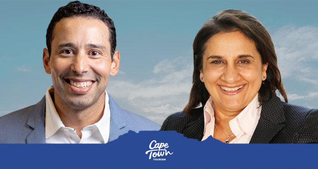 Cape Town Tourism chairpersons Brett Hendricks and Wahida Parker